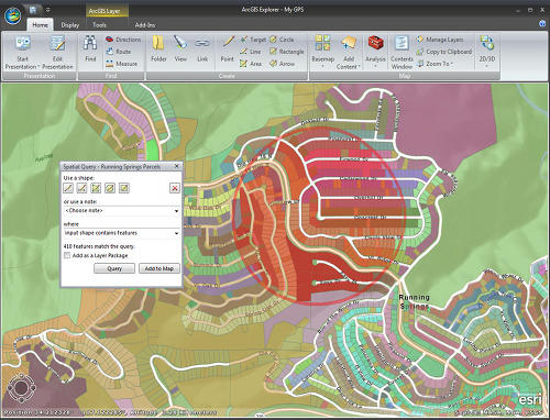 screenshot ArcGIS Explorer