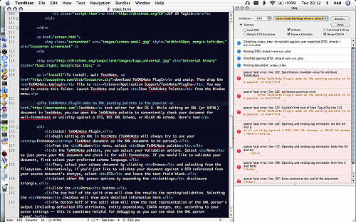 screenshot XMLMate plugin for TextMate