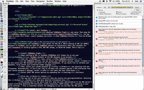 screenshot XMLMate plugin for TextMate